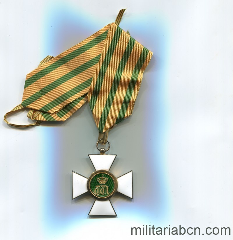 Militaria Barcelona Luxembourg. Commander's Cross of the Order of the Oak Crown. With original box. ribbon