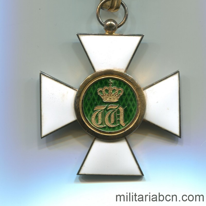 Militaria Barcelona Luxembourg. Commander's Cross of the Order of the Oak Crown. With original box.