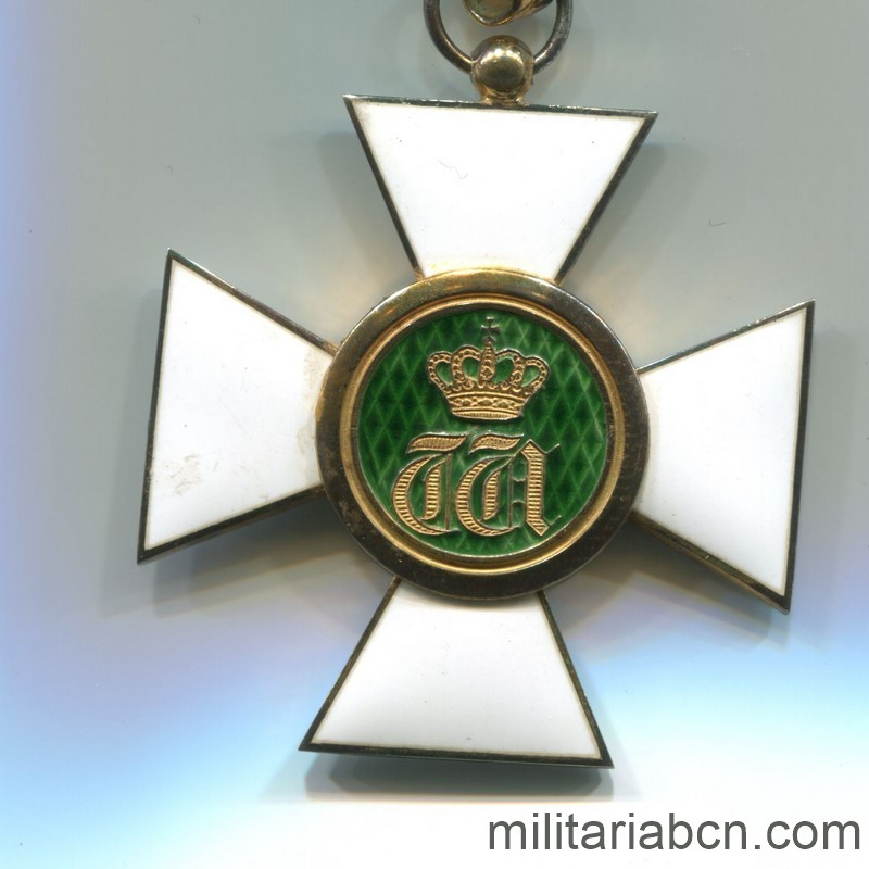 Militaria Barcelona Luxembourg. Commander's Cross of the Order of the Oak Crown. With original box. reverse