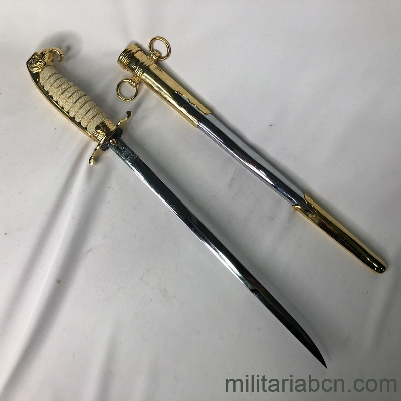 Militaria Barcelona Militaria Barcelona Thailand Army Officer Gala Dagger With presentation box awarded to a Captain of the Spanish Navy. blade2