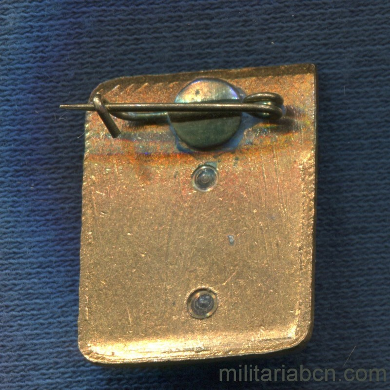 Militaria Barcelona USSR  Soviet Union.  First Prize Badge in Chess.  70s or 80s. reverse