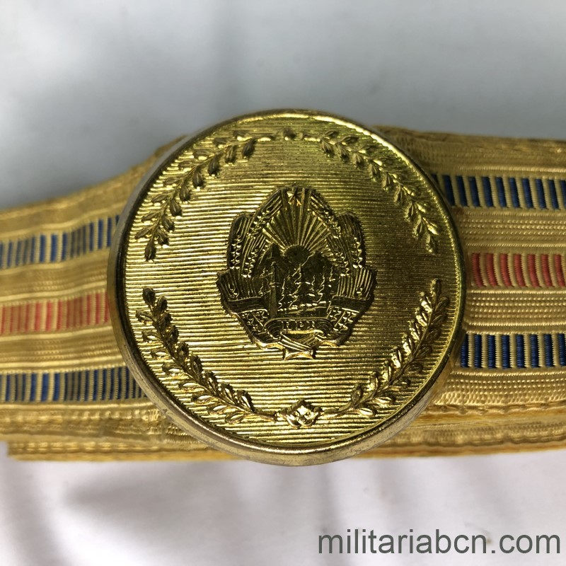 Militaria Barcelona Parade Belt and buckle of the Army of Yugoslavia. Tito period