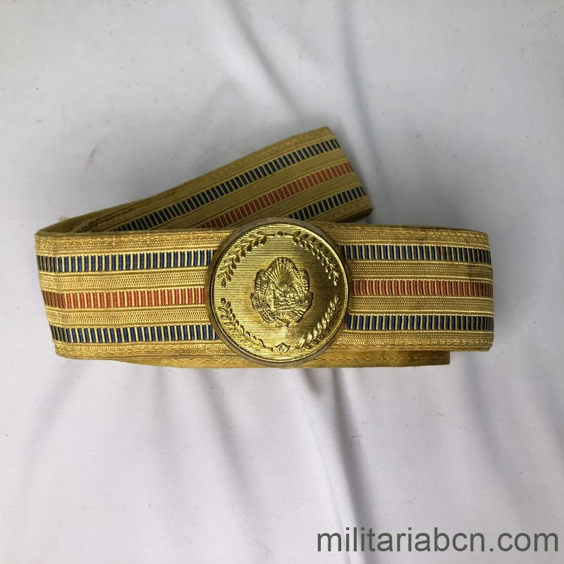Militaria Barcelona Parade Belt and buckle of the Army of Yugoslavia. Tito period full