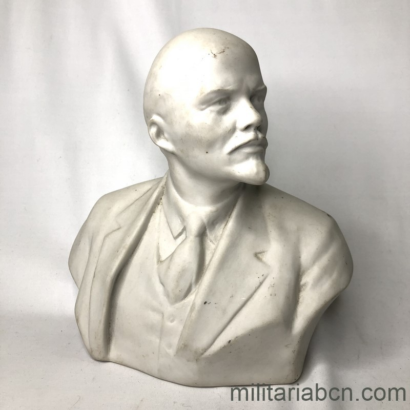Militaria Barcelona USSR Soviet Union. Bust of Lenin in porcelain. 20 cm high