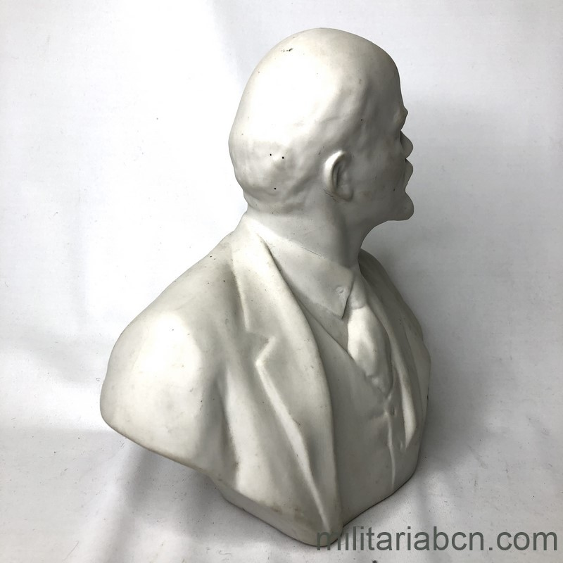 Militaria Barcelona USSR Soviet Union. Bust of Lenin in porcelain. 20 cm tall right