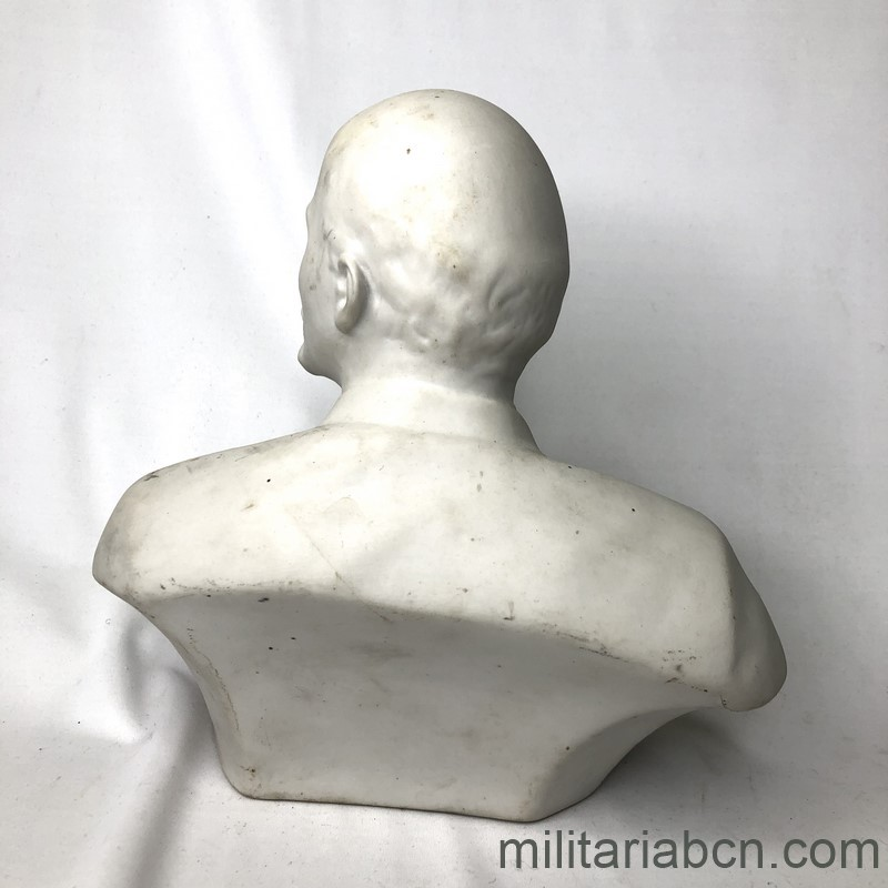 Militaria Barcelona USSR Soviet Union. Bust of Lenin in porcelain. 20 cm tall back