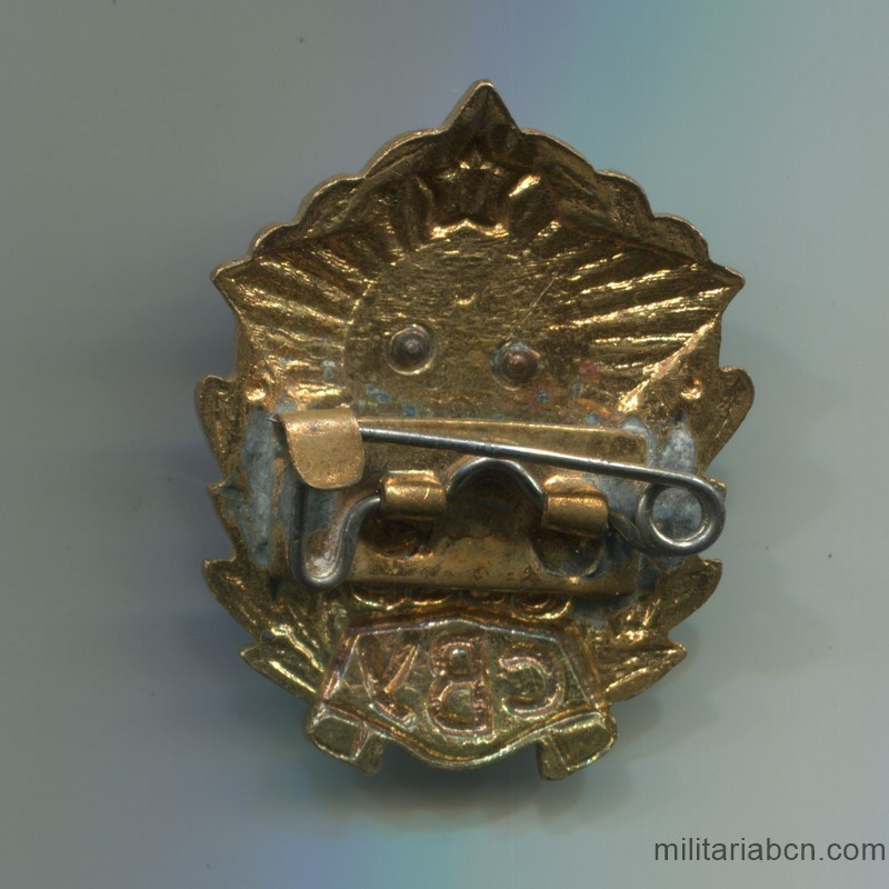 Militaria Barcelona USSR  Soviet Union  Badge of the Suvorov Military School  reverse