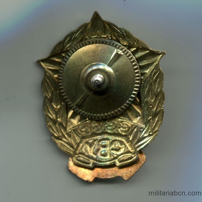 Militaria Barcelona USSR  Soviet Union  Badge of the Kazan Suvorov Military School. reverse