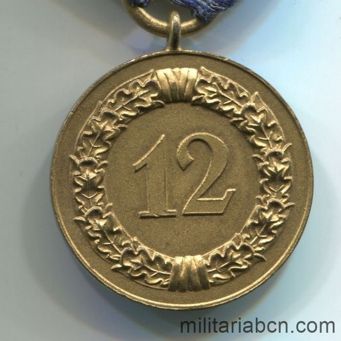 Germany III Reich. Long Service Medal in the Wehrmacht. 12 years. reverse