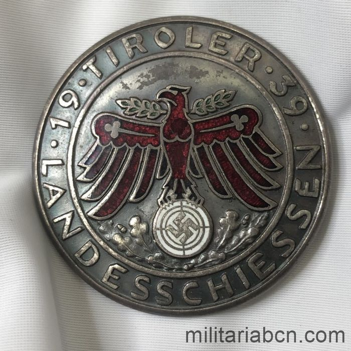 Germany III Reich. Shooter badge. Landeschiessen. Tiroler. Silver version.