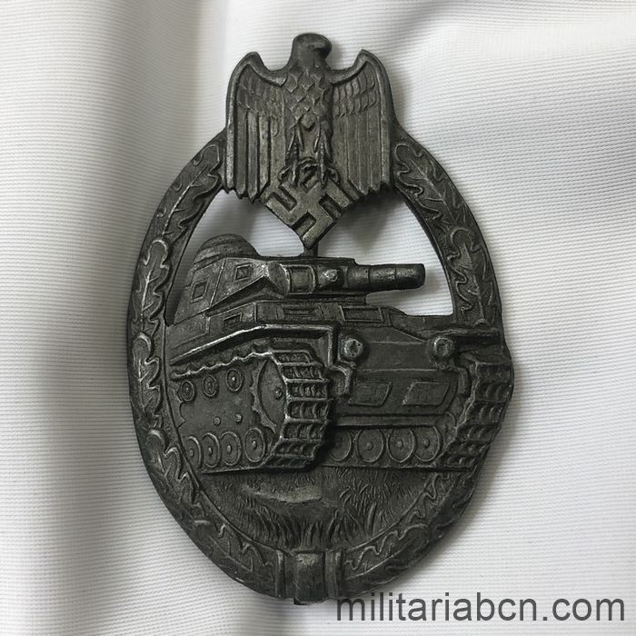 Germany III Reich. Wehrmacht. Panzer Troops Assault Badge. Bronze version. Hollow. Panzerkampfabzeichen in Bronze