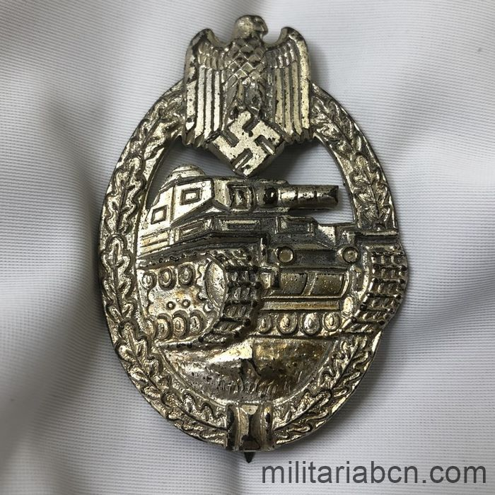 Germany III Reich. Wehrmacht. Panzer Troops Assault Badge. Silver