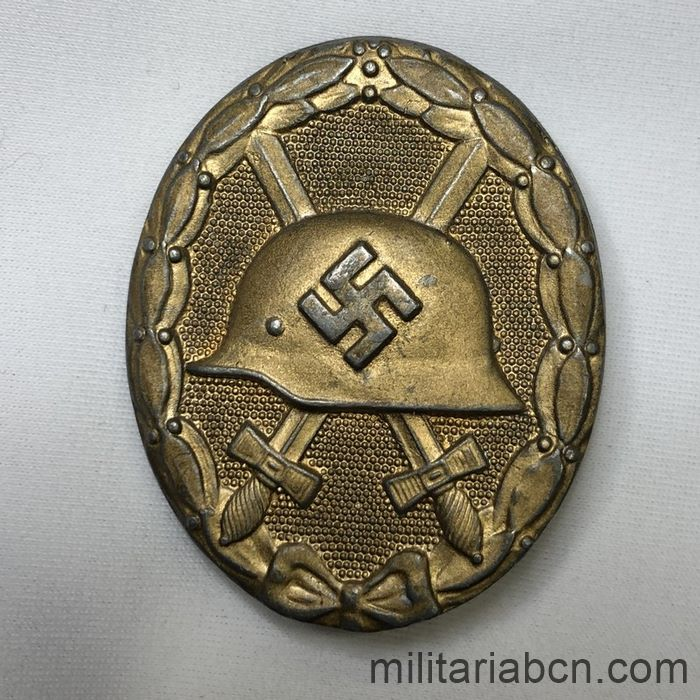Germany III Reich. Gold Wounded Badge. Kriegsmetall. Verwundetenabzeichen 1939 in Gold. Marked with the number 30 of Hauptmunzamt, Wien