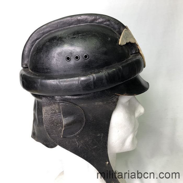 Germany III Reich. NSKK Nationalsozialistisches Kraftfahrkorps 1st Model Biker Helmet right
