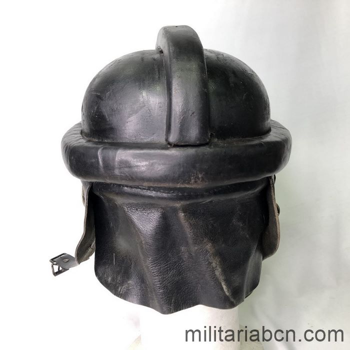 Germany III Reich. NSKK Nationalsozialistisches Kraftfahrkorps 1st Model Biker Helmet back