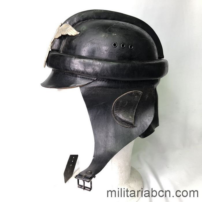 Germany III Reich. NSKK Nationalsozialistisches Kraftfahrkorps 1st Model Biker Helmet left