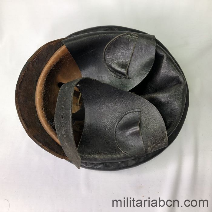 Germany III Reich. NSKK Nationalsozialistisches Kraftfahrkorps 1st Model Biker Helmet down