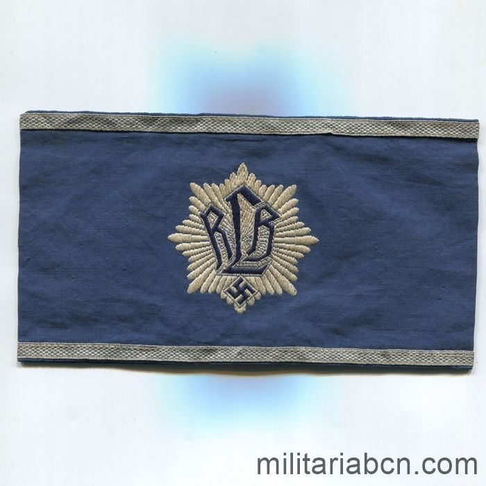 Germany III Reich. Officer's armband of the RLB Reichsluftschutzbund
