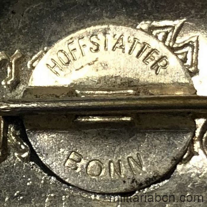 Germany III Reich. Stahlhelm league lapel badge. Bund der Frontsoldaten. 1918-1934. With manufacturer marking Hoffstätter Bonn back marking