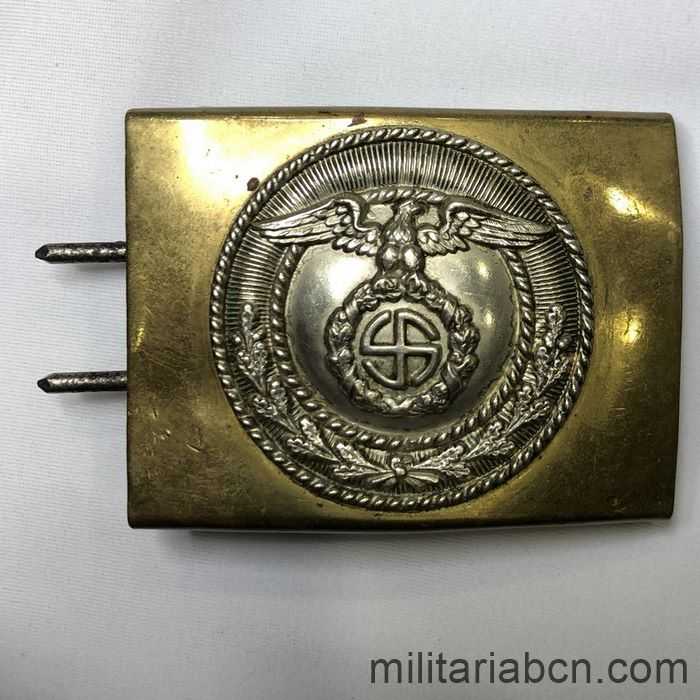 Germany III Reich. Buckle of the SA Sturm Abteilung, first model, circular swastika, was also used by the SS.