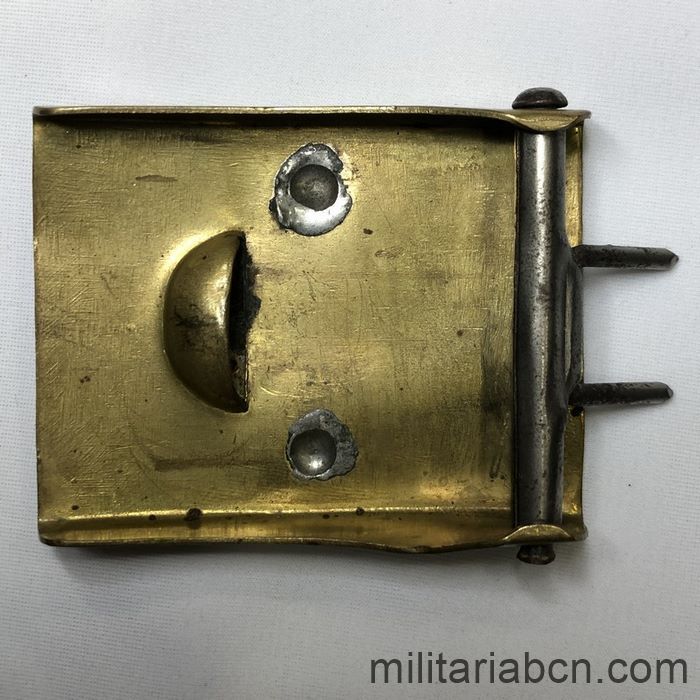 Germany III Reich. Buckle of the SA Sturm Abteilung, first model, circular swastika, was also used by the SS. back
