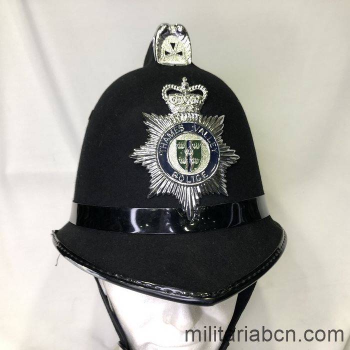 UK. Police Helmet, Bobby, from Thames Valley Police.