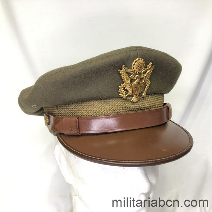 U.S. Army Officer's visor cap. Second World War. WW2. Complete, size 7 1/8.