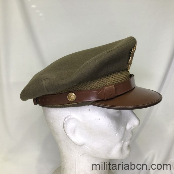 U.S. Army Officer's visor cap. Second World War. WW2. Complete, size 7 1/8. Right