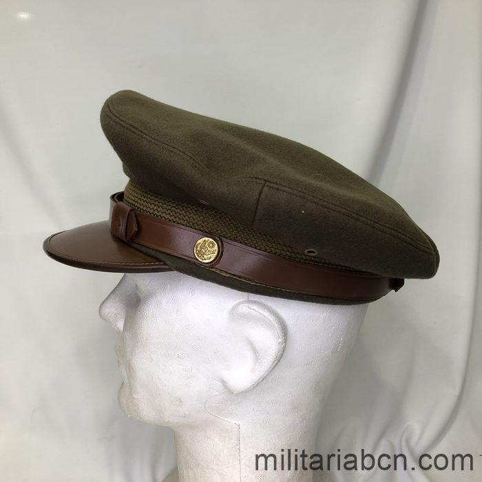 U.S. Army Officer's visor cap. Second World War. WW2. Complete, size 7 1/8. left
