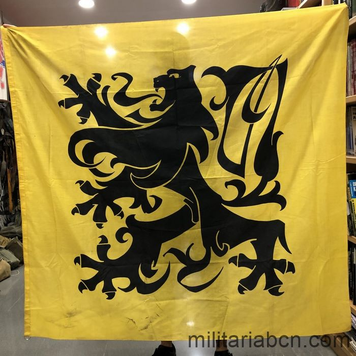 Flanders. Strijdvlag combat flag. Variant with claws and tongue in black.