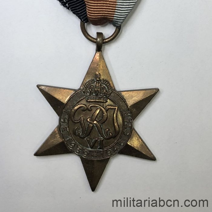 United Kingdom. 39-45 Star. Awarded to a Sergeant of the 1st Battalion of the North Rhodesian Regiment.