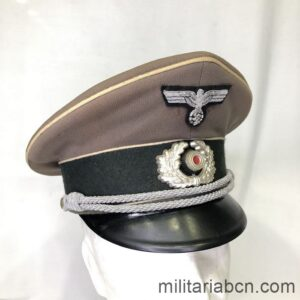 Germany III Reich. Wehrmacht Infantry Officer Tropical visor Cap. Very rare Wehrmacht Officer Tropical Cap.