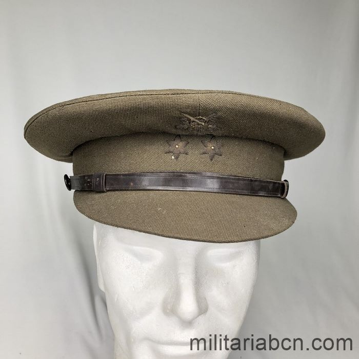 National Army Lieutenant visor Cap. Spanish Civil War. Embroidered badges.
