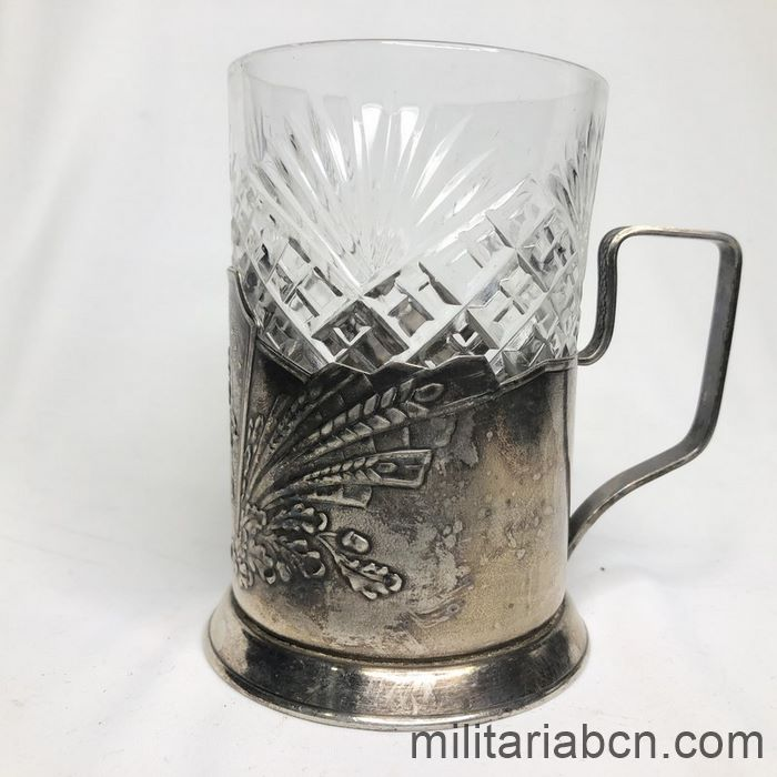 USSR Soviet Union. Cup holder. Allegory of the Soviet Space Project