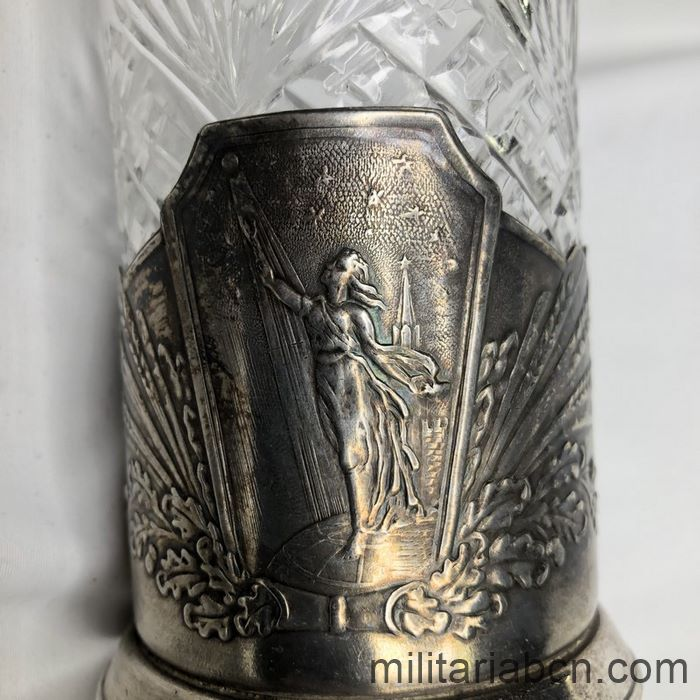 USSR Soviet Union. Cup holder. Allegory of the Soviet Space Project. Sputnik.