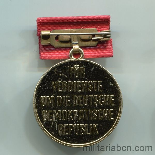 DDR GDR German Democratic Republic. Medal of Honor for the 40th Anniversary of the DDR. Ehrenmedaille zum 40. Jahrestag der DDR reverse