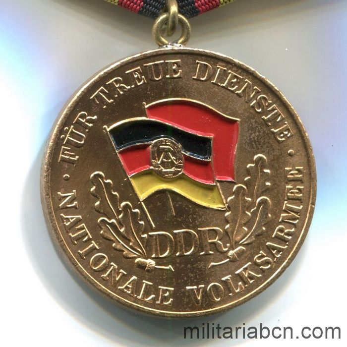 DDR.Medal For Faithful Service in the National People's Army NVA. Gold version. 20 years. Medaille für treue Dienste in der Nationalen Volksarmee.