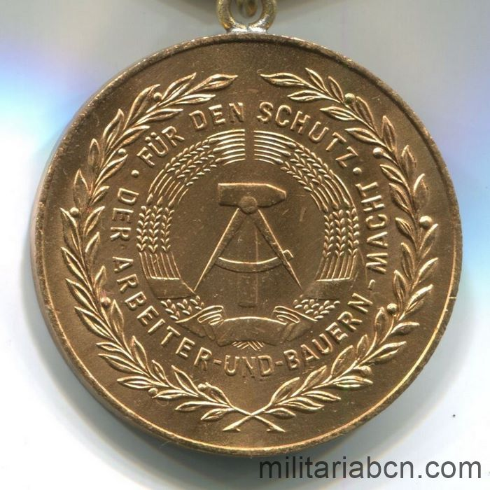 DDR.Medal For Faithful Service in the National People's Army NVA. Gold version. 20 years. Medaille für treue Dienste in der Nationalen Volksarmee. reverse