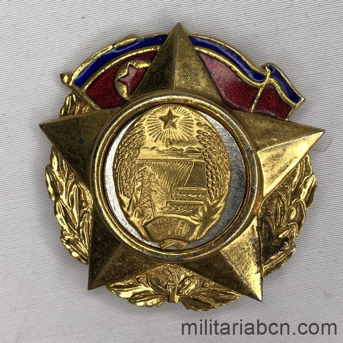 Democratic People's Republic of Korea. Order of the 50th Anniversary of the DPRK Foundation. Breast star.