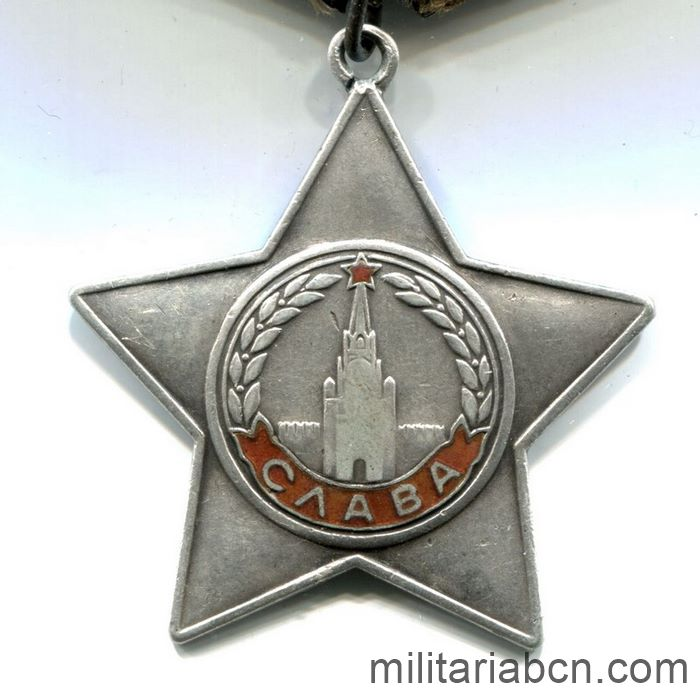 USSR Soviet Union. Order of Glory. 3rd Class. Option 10, Variation 2. Number # 795516
