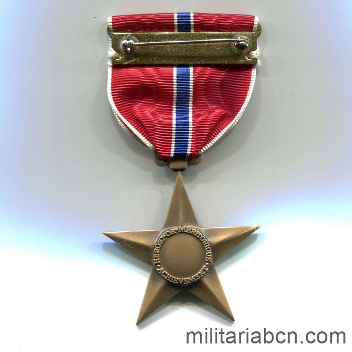 USA). World War II Bronze Star. reverse