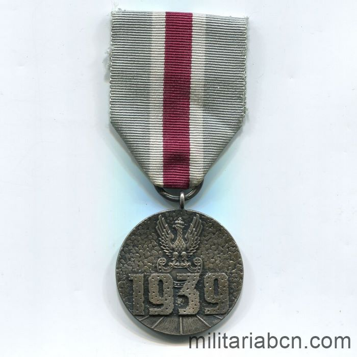 Poland. Medal for Participation in the Defensive War of 1939. ribbon