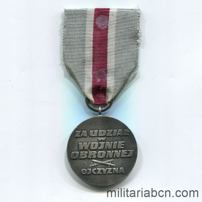 Poland. Medal for Participation in the Defensive War of 1939. ribbon reverse