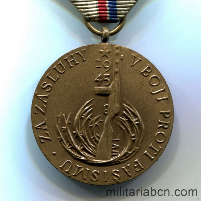 Czech Socialist Republic. 20th Anniversary Medal of the Victory against the Fascism 1945-65