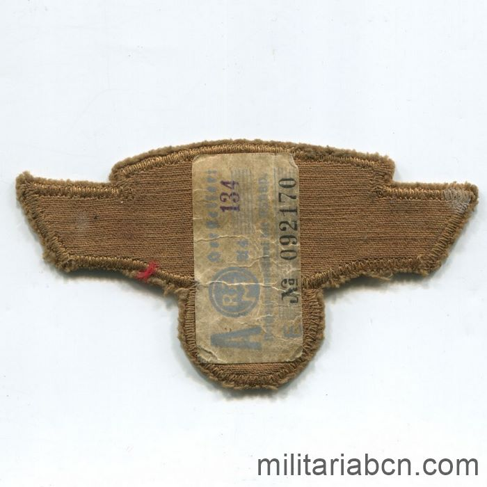 Germany III Reich. Arm Badge of Leader of the NSKK Nationalsozialistisches Kraftfahrkorps. With RZM label. reverse