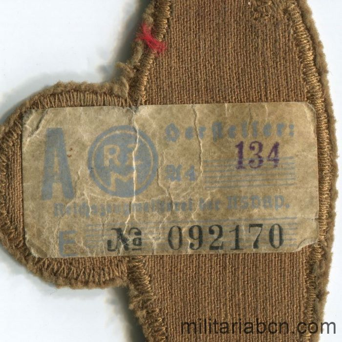 Germany III Reich. Arm Badge of Leader of the NSKK Nationalsozialistisches Kraftfahrkorps. With RZM label on the reverse