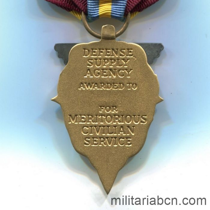 USA. Meritorious Civilian Service Award. Awarded by the Defense Supply Agency reverse