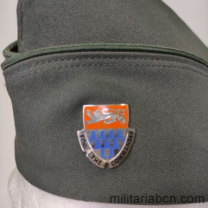 """USA United States. Staff Specialist garrison cap from the 36th Signal Battalion """"For the Commander""""."""