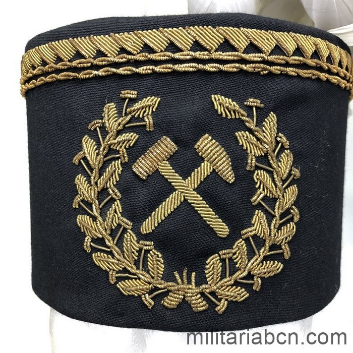 People's Republic of Poland. Miners' dress cap. It comes from the Wieliczka Salt Mines