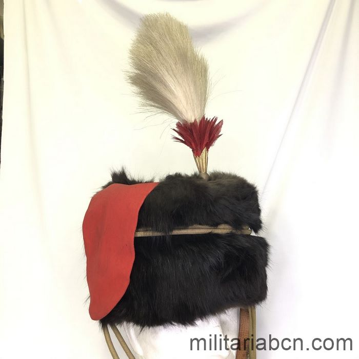 UK. Leather hat, colbac or busby from the Royal Horse Artillery. 1920s. George V Period.